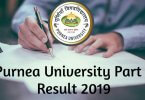 Purnea University Part 3 Result 2019