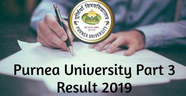 Purnea University Part 3 Result 2019
