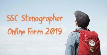 SSC Stenographer Online Form 2019