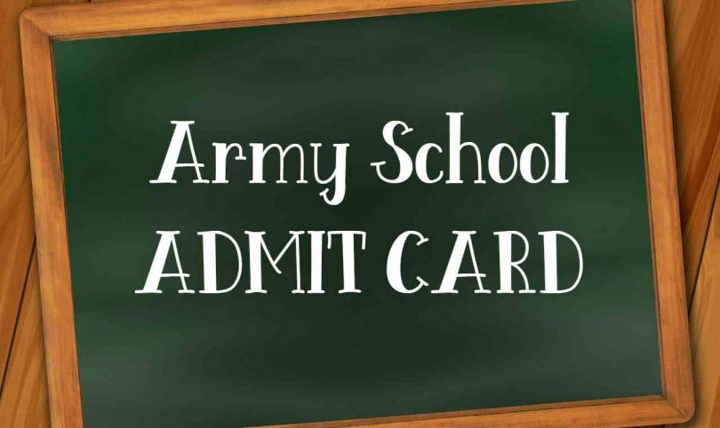 Army School ADMIT CARD