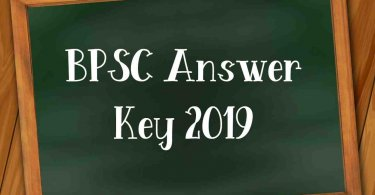 BPSC Answer Key 2019