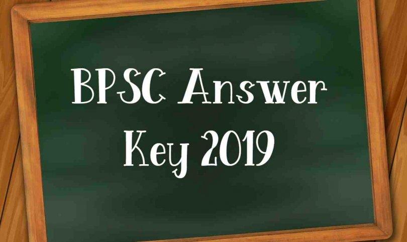 BPSC Answer Key 2019