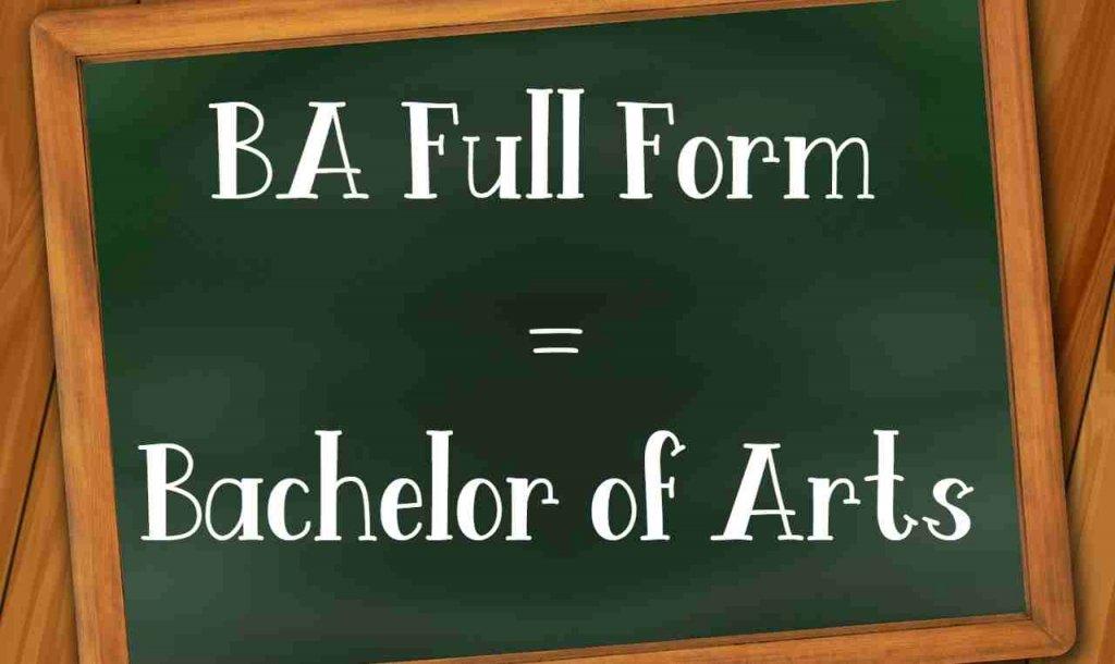 full form of ba in hindi