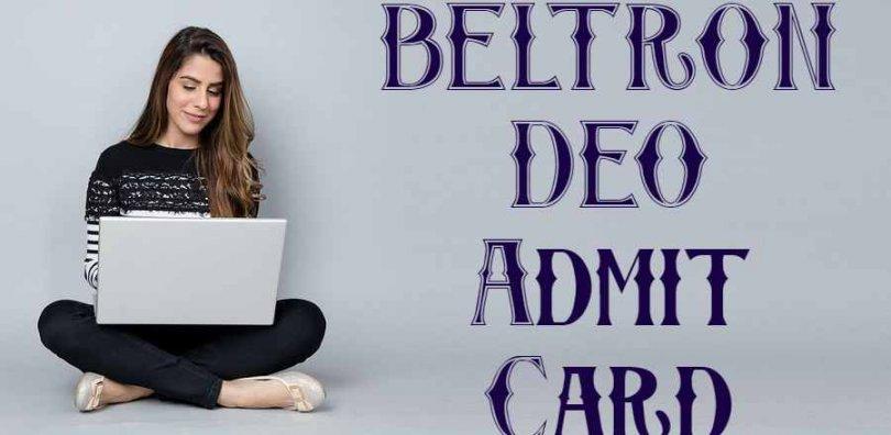 BELTRON DEO Admit Card
