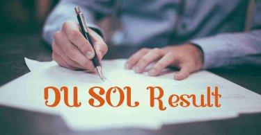 DU SOL Result