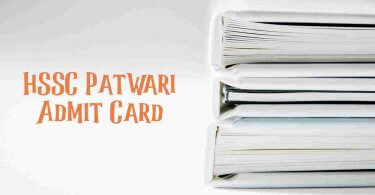 HSSC Patwari Admit Card
