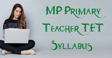MP Primary Teacher TET Syllabus