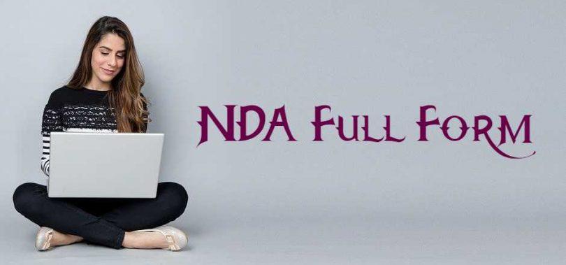 NDA का Full Form