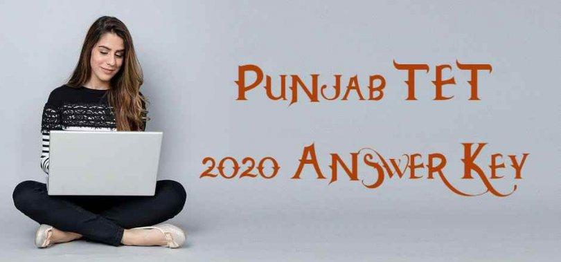 Punjab TET 2020 Answer Key