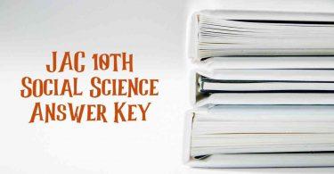 JAC 10th Social Science Answer Key