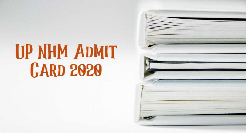 UP NHM Admit Card 2020