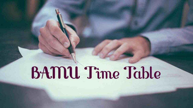 BAMU Time Table