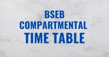 BSEB Compartmental Time Table