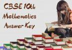 CBSE 10th Mathematics Answer Key