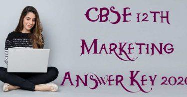 CBSE 12th Marketing Answer Key 2020