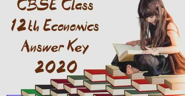 CBSE Class 12th Economics Answer Key 2020