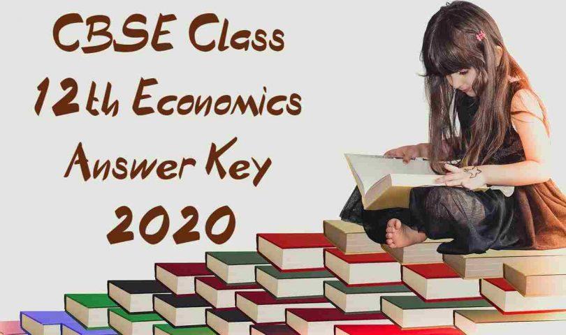 CBSE Class 12th Economics Answer Key 2020