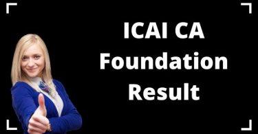 ICAI CA Foundation Result