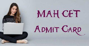 MAH CET Admit Card 2020