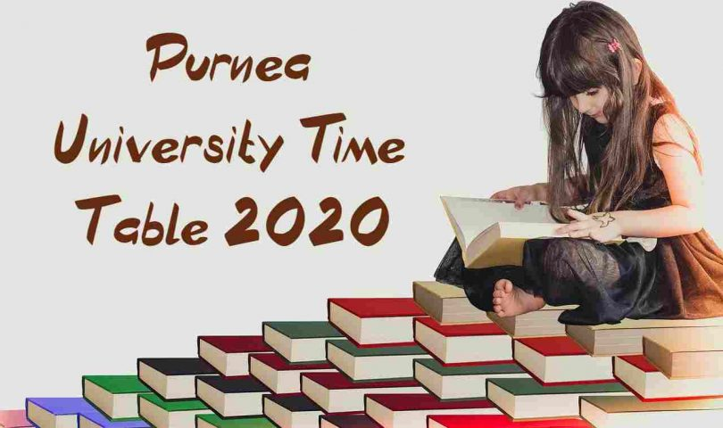 Purnea University Time Table 2020