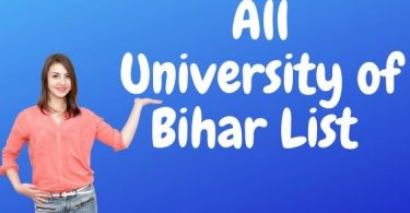 All University of Bihar List