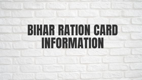 Bihar Ration Card