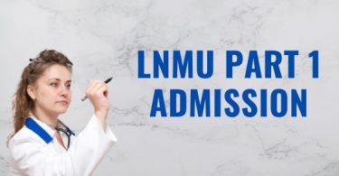 LNMU Part 1 Admission