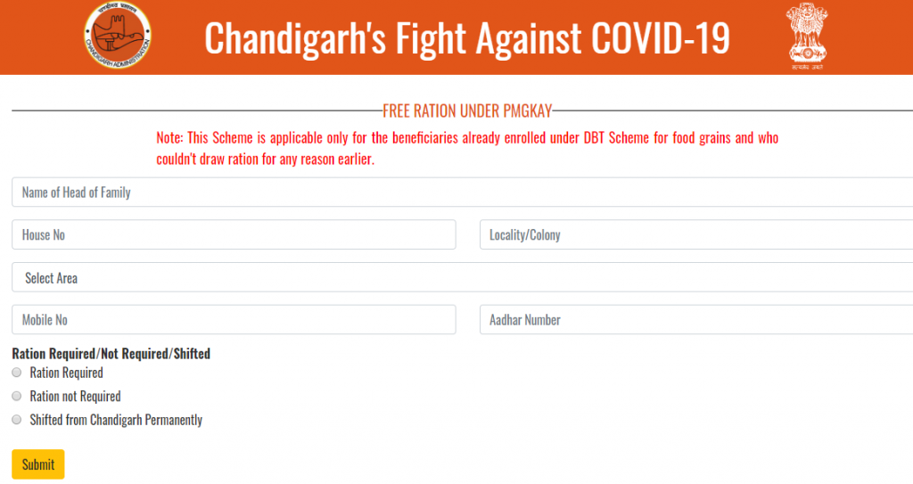 Chandigarh New Ration Card List 2020 Check Status Online Form A To Z Classes