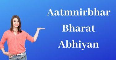 Aatmnirbhar Bharat Abhiyan