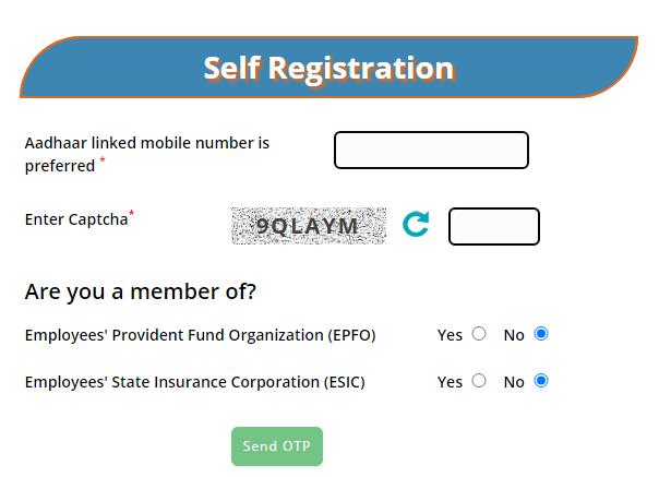 eShram Card Registration